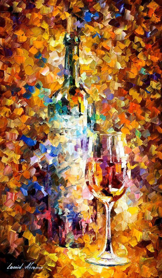 Recreación original pintura al óleo sobre lienzo Se trata de la mejor calidad posible de recreación hecha por Leonid Afremov en persona  Título: Vino para las emociones Tamaño: 20 x 30 pulgadas (50 cm x 75 cm) Condición: Excelente nuevo Galería de estimado valor: $ 4.500 Tipo: Original recreación pintura al óleo sobre lienzo por el cuchillo de paleta  Esta es una recreación de una pieza que ya fue vendida.  La recreación es 100% pintado a mano por Leonid Afremov usando pintura de aceite…