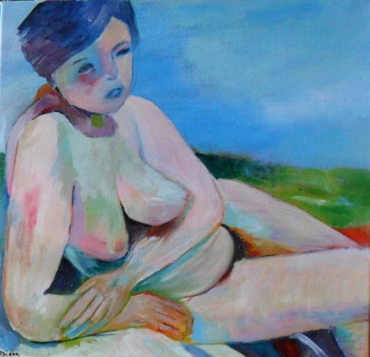 LA JEUNE MERE - Painting,  40x40 cm ©2015 par Rosiane Priam -  Peinture