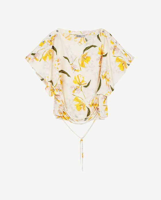Image 8 of FRILLED SLEEVE TOP from Zara