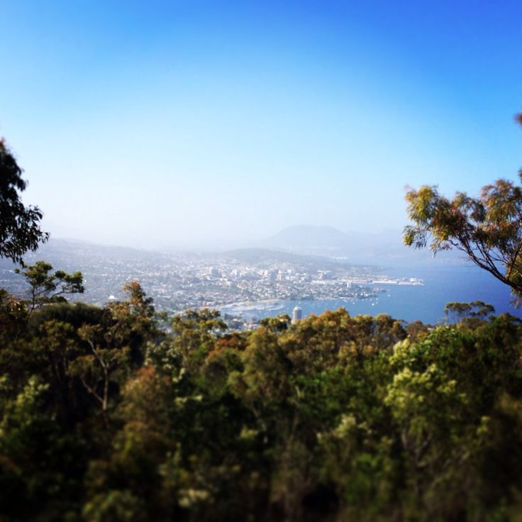 A photo a day Hobart City from Mt Nelson