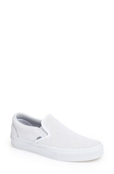 Vans 'Classic' Perforated Slip-On Sneaker (Women) available at #Nordstrom i want the black ones!!!!
