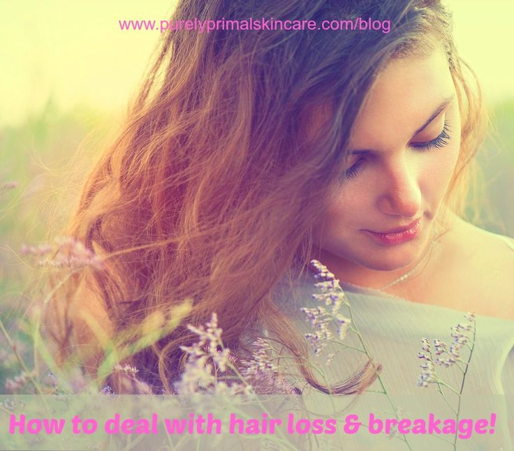How to deal with hair loss & breakage! http://purelyprimalskincare.com/skincare-saturday-how-to-deal-with-hair-loss-breakage/
