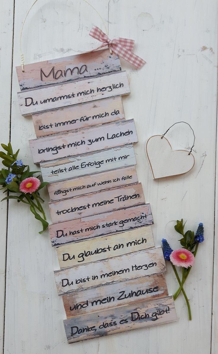 https://www.facebook.com/Puenktchenherz-1514083225528083/  und Besuch meinen Dawanda-Shop: http://de.dawanda.com/shop/Gifts-from-the-heart-by-Sunny  Dekoschild Mama - zum Muttertag - Geburtstag, Weihnachten, um einfach mal Danke Mama zu sagen