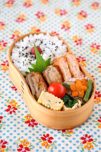 椎茸のつくね詰め照り焼き #お弁当#obento
