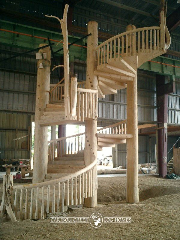 Best 13 Best Cool Log Home Staircases Railing Images On 400 x 300