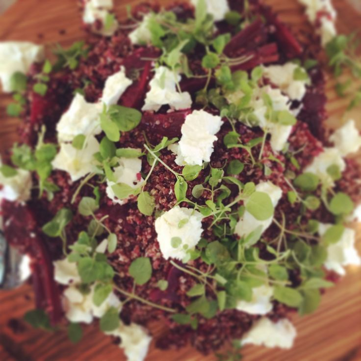 beetroot, quinoa and goats cheese salad