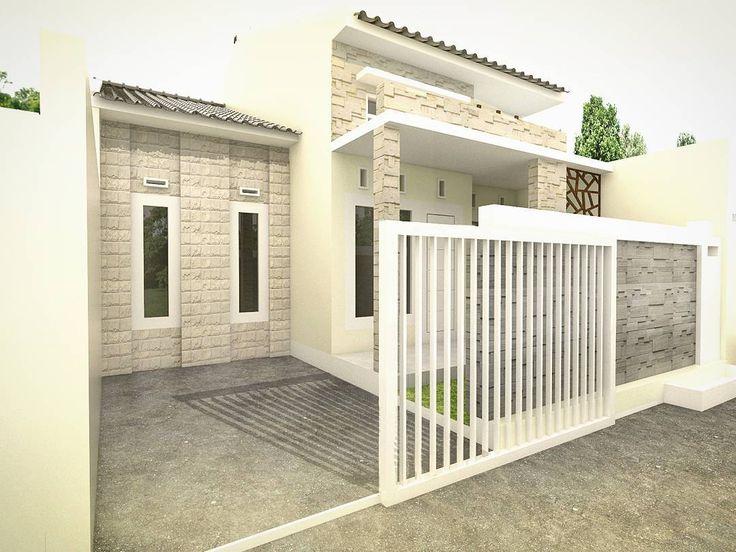 Desain Teras  Batu Alam Rumah Minimalis  Type 36 Desain