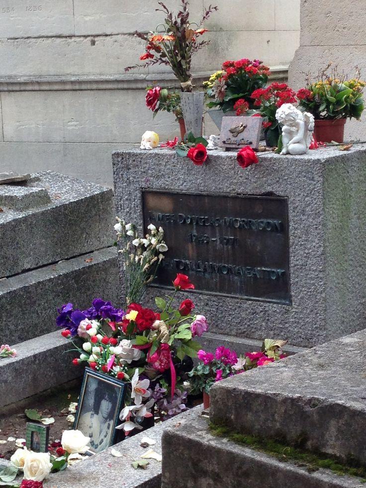 Jim Morrison's grave, Pere LaChaise, Paris, France