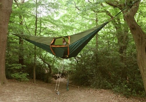 Tentsile Tent. The evil monsters can't get you now. LOL