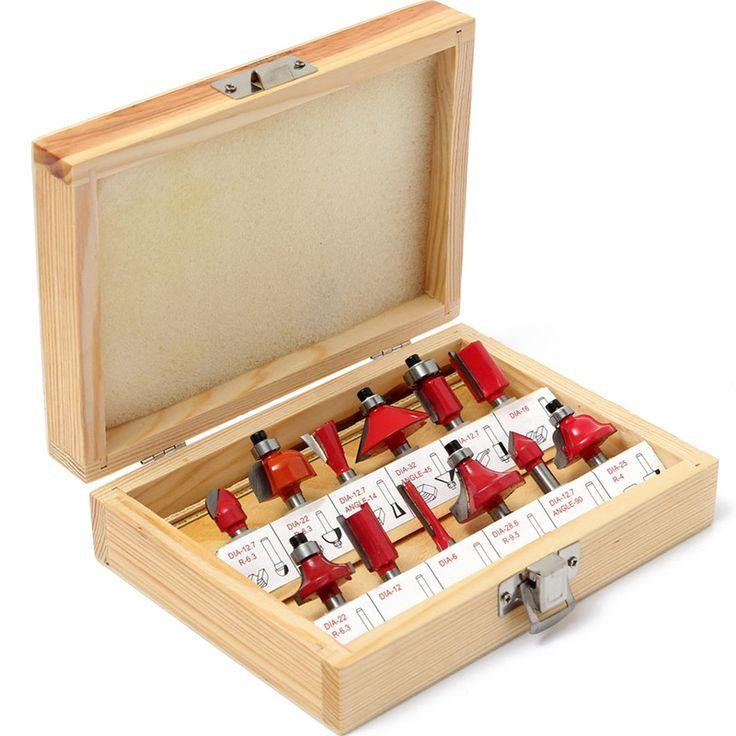 $35.64 (Buy here: https://alitems.com/g/1e8d114494ebda23ff8b16525dc3e8/?i=5&ulp=https%3A%2F%2Fwww.aliexpress.com%2Fitem%2FWholesale-Price-12PC-1-4-Inch-Router-Bit-Set-Professional-Shank-Tungsten-Carbide-Wood-Drilling-Bits%2F32715840961.html ) Wholesale Price 12PC 1/4 Inch Router Bit Set Professional Shank Tungsten Carbide Wood Drilling Bits with Wood Case Kit Box for just $35.64