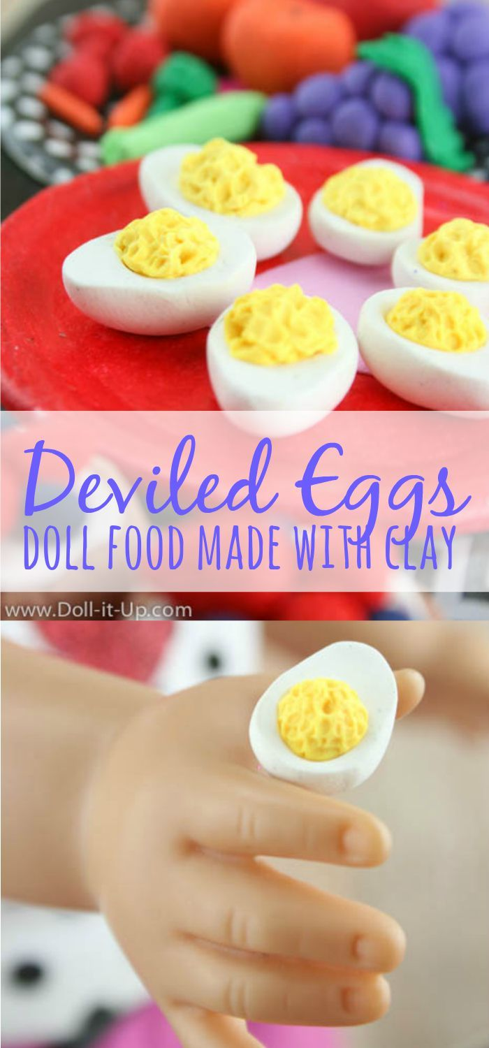 Easy to make doll food from clay