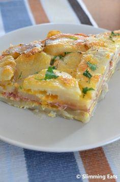 Bacon and Cheese Tortilla Espanola   Slimming Eats - Slimming World Recipes