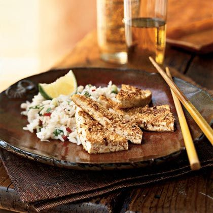 Tofu and peanuts both contribute magnesium to this dish. Serve this tasty vegetarian entrée with lime wedges for a bit of color and...