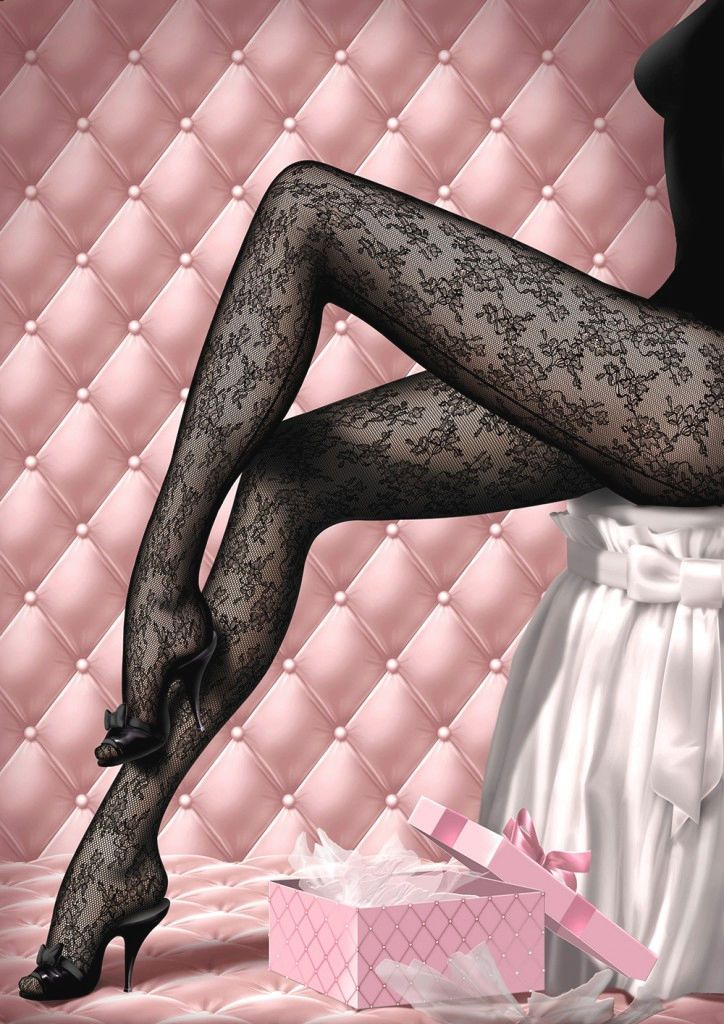 Chantal Thomass lace cut and sewn pantyhose. FW 2013 collection. Unf. Want these.