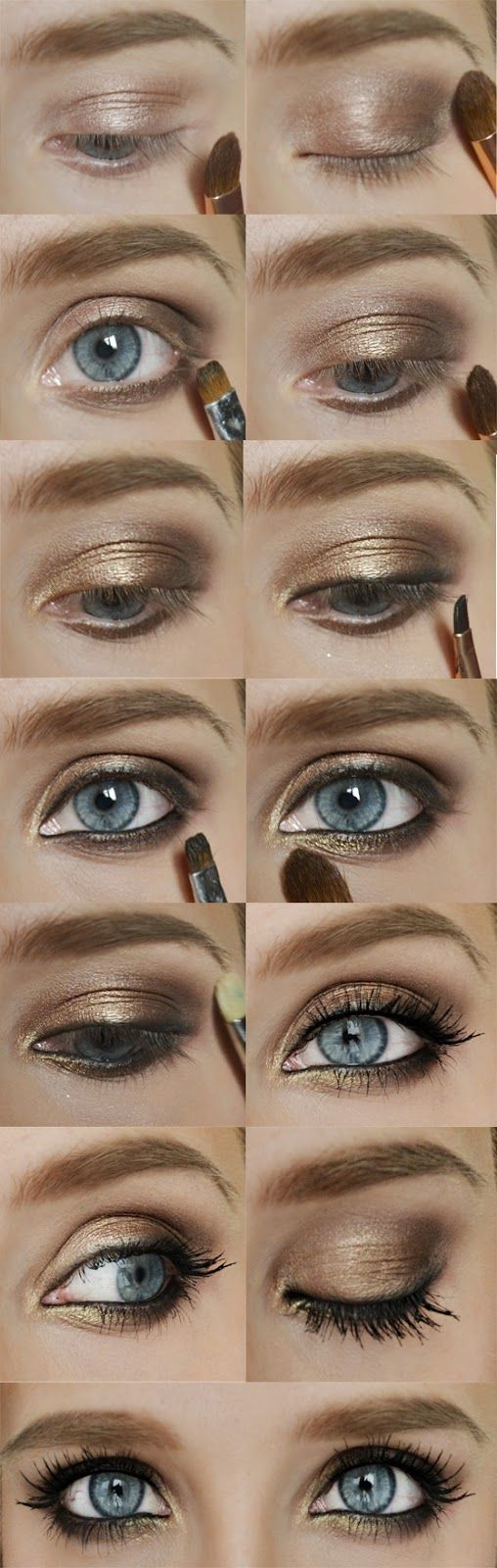 Ok, if you think that this look will take you for ages I can assure you ... yes it will. It's aaaall about blending and building the colou...