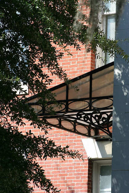 Wrought Iron and Glass Awning