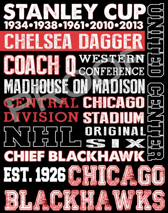 Chicago Blackhawks Subway Art by 515DesignStudio on Etsy, $20.00