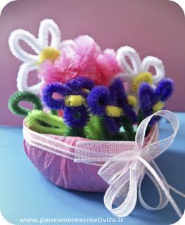 Saksı ile Şönil Çiçekler Yapımı