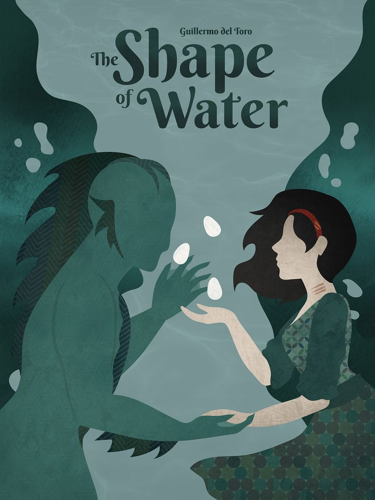 Oscar Pop! The 2018 Best Picture Nominees as Pop Art Posters – The Shape of Water Movie Poster