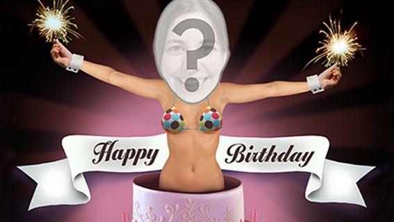Sexy Lady Popping Out Of Cake  eCard - Personalized Birthdays eCards - JibJab.com