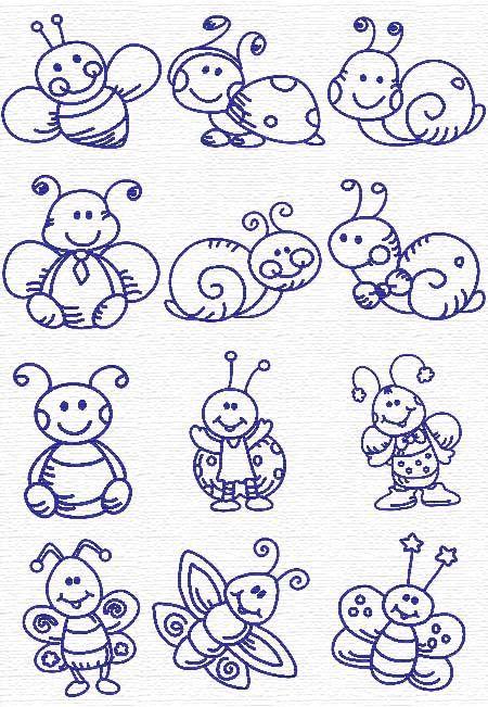 Embroidery info bug set