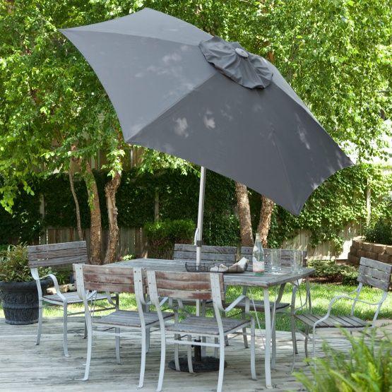 DestinationGear 8.5 ft. Aluminum Market Umbrella with Wind Resistant Doppler