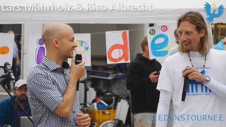 Lars Mährholz und Rico Albrecht - Mahnwache für Frieden in Düsseldorf, F...