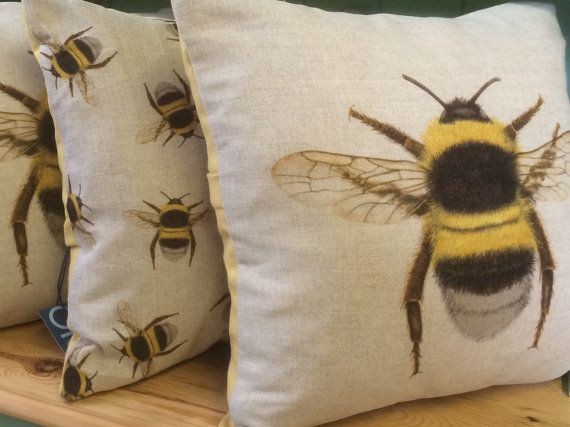 Bee Cushion by Number10Upholstery on Etsy