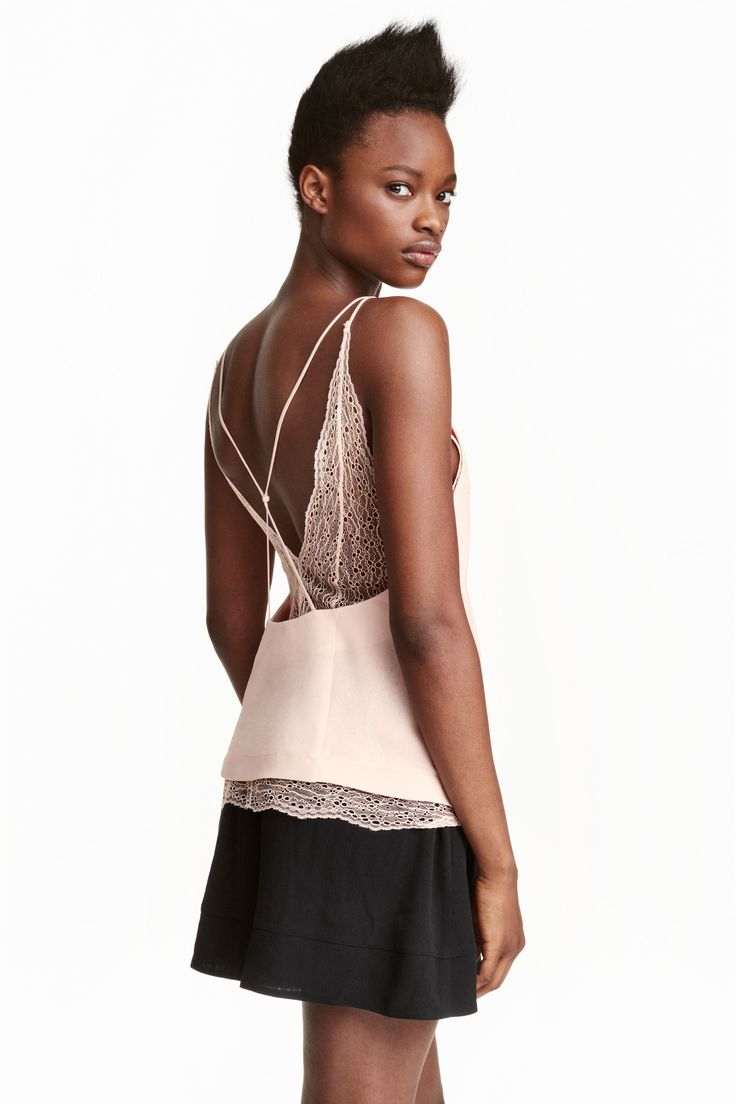 Double-layered lace top | H&M
