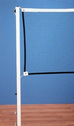 "Permanent Sleeve-Type Badminton 1 Court System from Gared by Gared. $353.32. The SSI sleeve-type badminton system is ideal for competition or recreational use. Uprights are constructed of 1 1/2"" square steel tubing which is powder coated for a durable white finish. This system features a removable upright design where the posts are placed in a permanently installed floor sleeve. This system includes an adjustable foot pad to gain accurate net height. Floor sleeve..."