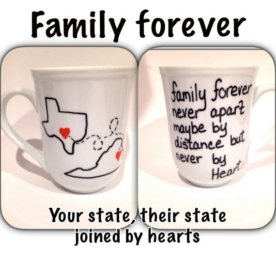 States or Countries Coffee Mug with two states by Brusheswithaview