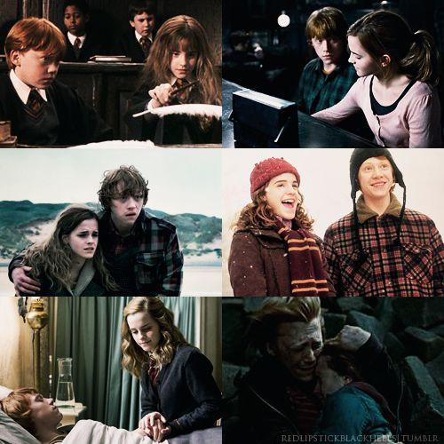 116 best hermelien griffel ron weasley images on pinterest - Harry potter hermione granger ron weasley ...
