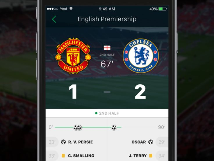 Messing around in Sketch today. I can't seem to find a decent app that allows me to keep tabs on the football scores during the week/weekend, and one that is actually well designed. So just express...