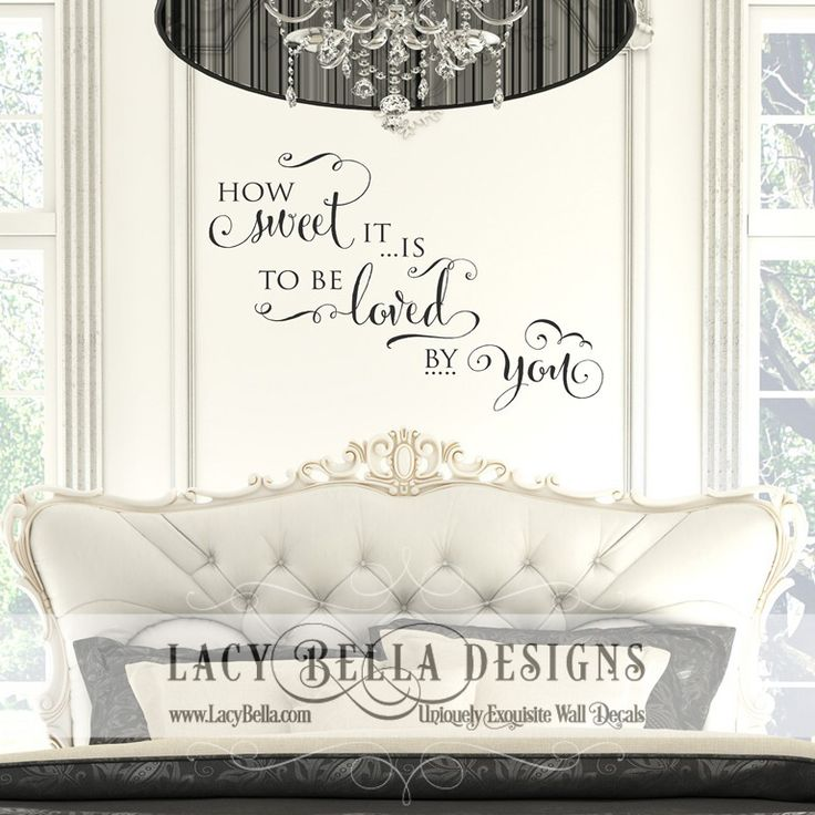 Best Master Bedroom Images On Pinterest Master Bedrooms - Custom vinyl wall decals for master bedroom