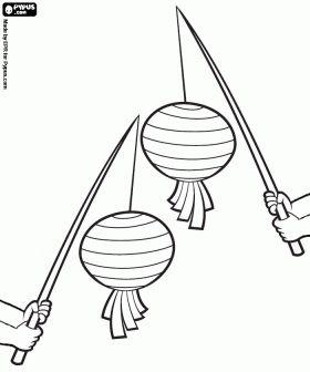 Kinderen dragen papieren lantaarns in de avond aan het feest van Sint Maarten te vieren op 11 november in Vlaanderen en Nederland. Sint-Maar...