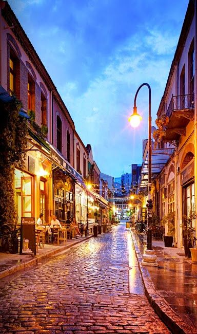 he Ladadika, Thessaloniki, Greece