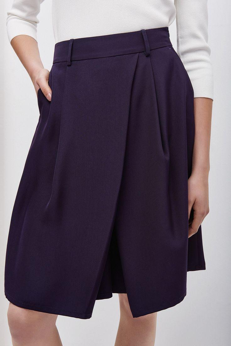 Falda-pantalón de corte fluido | Adolfo Dominguez shop online