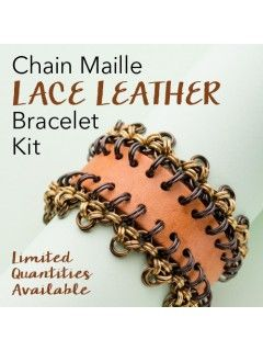 2016/11/11 Chain Maille Lace Leather Bracelet Kit - December/January 2017 issue of Step by Step Wire Jewelry