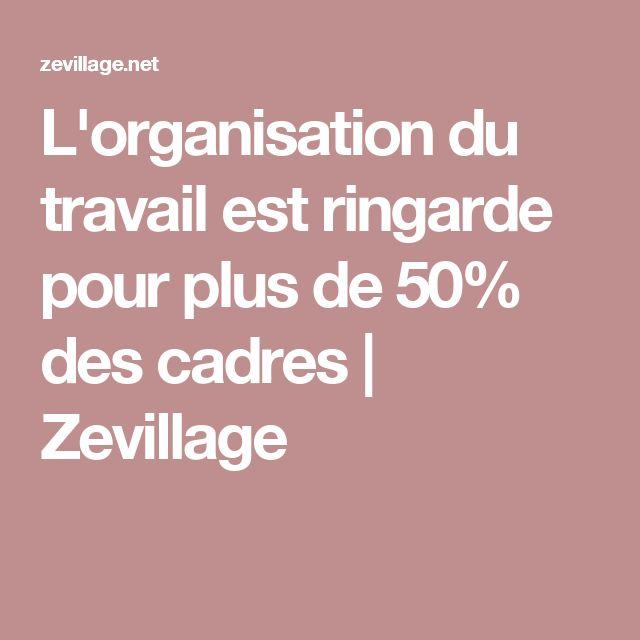 L'organisation du travail est ringarde pour plus de 50% des cadres | Zevillage Les salariés du secteur public ont un sentiment de manque de modernité plus affirmé de l'organisation du travail, à 60 % des personnes interrogées, contre 52 % dans le privé.
