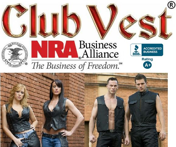 #1 disabled veteran & biker owned CCW MC vest motorcycle gear  store in the world, PERIOD! ClubVest.com