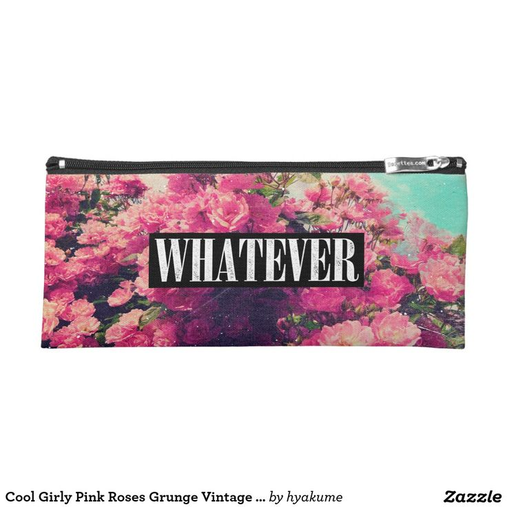 Cool Girly Pink Roses Grunge Vintage Whatever Pencil Case