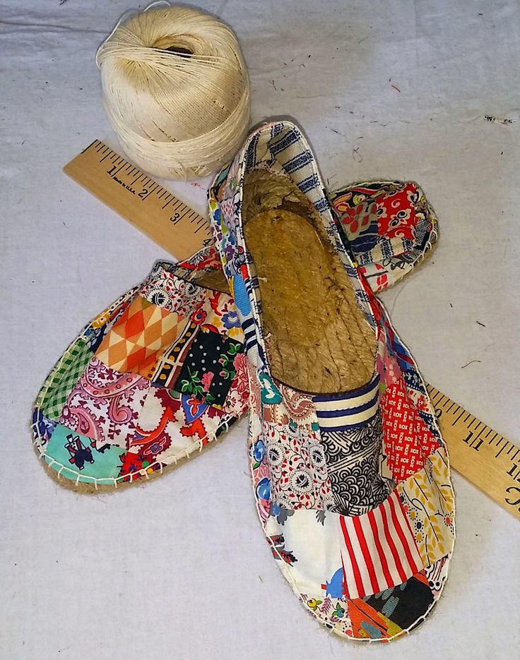 If the Shoe Fits...Make your own Patchwork Shoes! | A Piece of Cloth Vintage Fabric Merchants