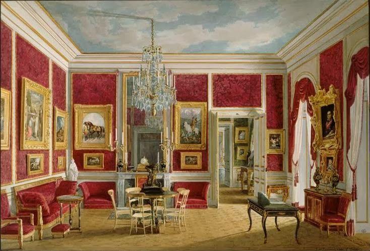 Salon of the officiers ch teau de saint cloud 19th for Chaise 19eme siecle