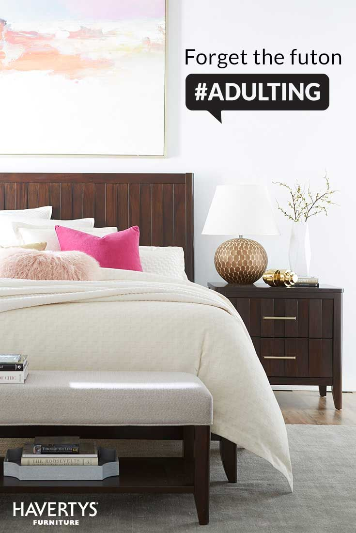 Your futon has seen better days, and your guests deserve better. Havertys sells a variety customizable beds and sleeper options, so your friends can get a restful night's slumber. You can also find top-brand mattresses for less _ your loved ones will thank you. #adulting