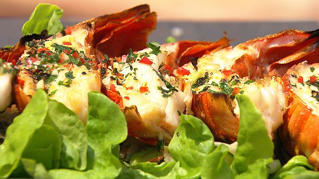 MKR4 Recipe - Chargrilled Rock Lobster with Lemon and Herb Butter
