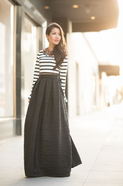 483 best images about Maxi Skirt Outfits on Pinterest | Black maxi ...