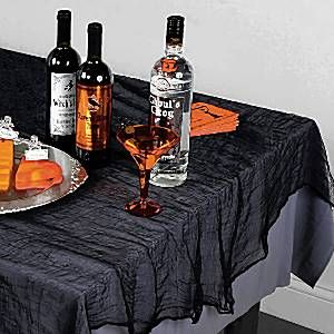 Halloween Tablecloth – 1.5m x 2.1m Black Cheesecloth Tablecover