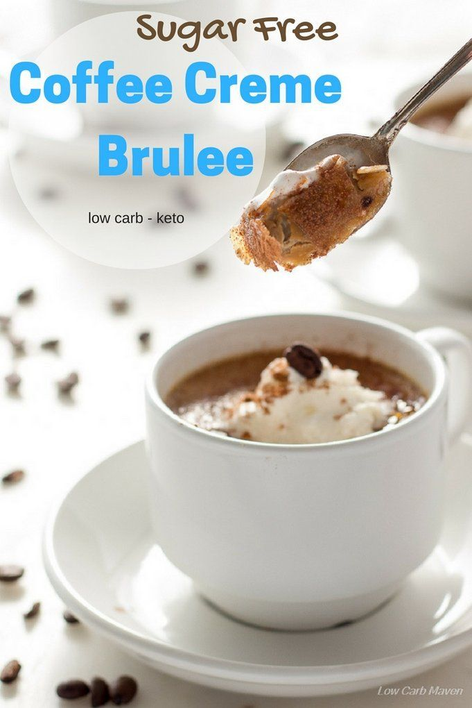Sugar Free Coffee Creme Brulee is a silky, creamy low carb dessert. This sugar free keto dessert has only 4 net carbs per serving!