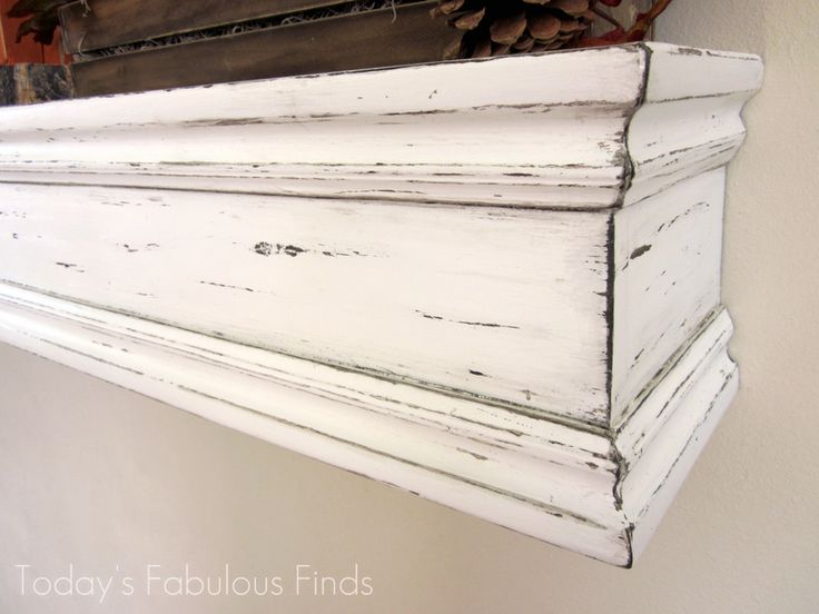 """DIY Mantel Shelf and How to Hang It at """"Today's Fabulous Finds"""""""