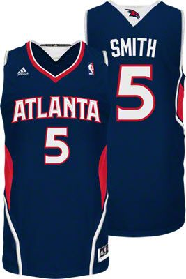 Atlanta Hawks Josh Smith 5 Blue Authentic NBA Jersey Sale